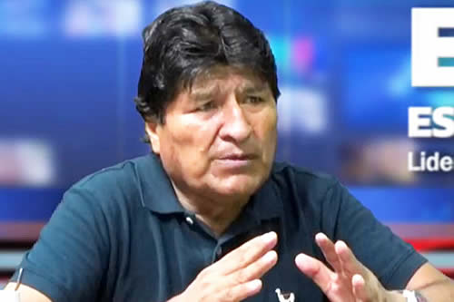 Evo dice que el pueblo boliviano no va a parar este lunes, salvo algunos pititas y pitilleros contratados