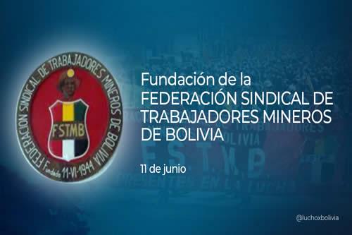 Presidente saluda el 77 aniversario de la Federación Sindical de Trabajadores Mineros de Bolivia