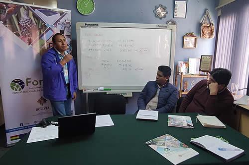 Fonadin coordina la implementación de programas de producción de piña y banano con municipios de La Paz