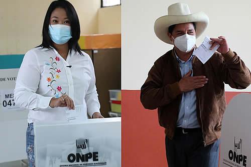 Al 99,79% del cómputo, Pedro Castillo logra el 50,20% y Keiko Fujimori 49,79%