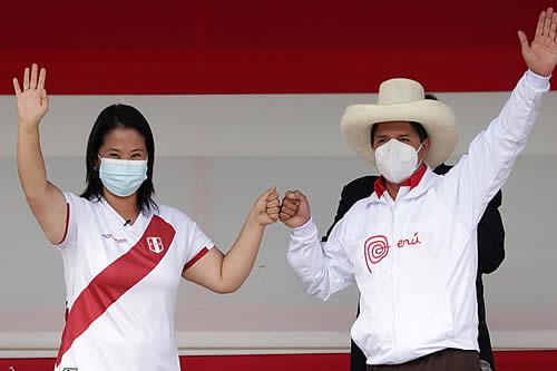 Pedro Castillo y Keiko Fujimori acuerdan realizar dos debates antes de la segunda vuelta presidencial en Perú