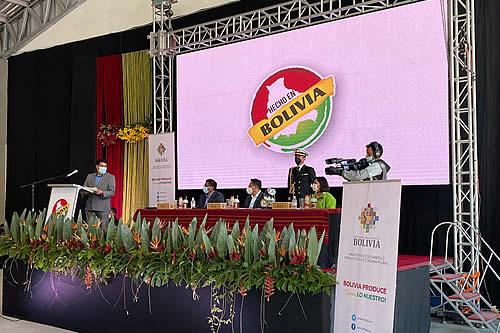 """Relanzan el sello """"Hecho en Bolivia"""" para reactivar y dinamizar la economía del país"""