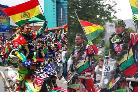 La Paz brindó apoteósica bienvenida al Rally Dakar