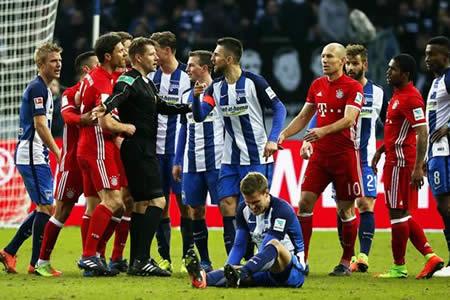 El Bayern empate ante el Hertha con gol de Lewandowski en el descuento