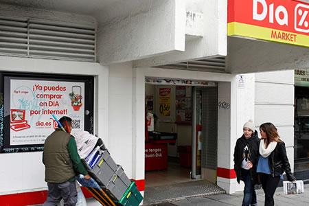 Un ladrón queda atrapado en un supermercado en pleno día