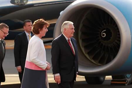 """Tillerson llega a México con objetivo de """"forjar una relación constructiva"""""""