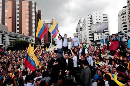 Candidato opositor dice que en segunda vuelta de elecciones resurgirá Ecuador