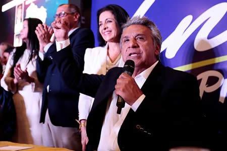 Moreno confía en ganar Presidencia de Ecuador con más de 2 millones de votos