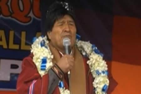 Morales sugiere usar Fondo Indígena en sistemas de riego