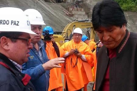 Morales está disgustado por retraso en obras de la hidroeléctrica en Chapare