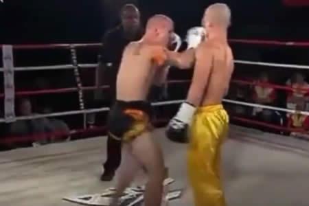 Un luchador de boxeo tailandés deja KO a un maestro de kung-fu con una serie de golpes ridículos