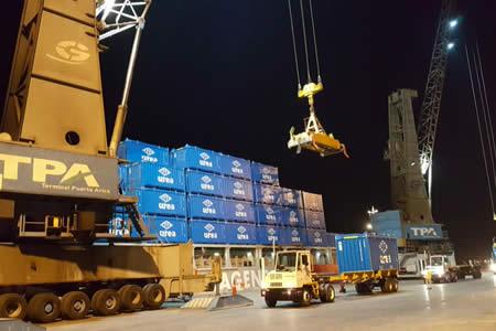 Trasladan 500 contendedores a Bulo Bulo para exportar fertilizantes desde la planta de urea