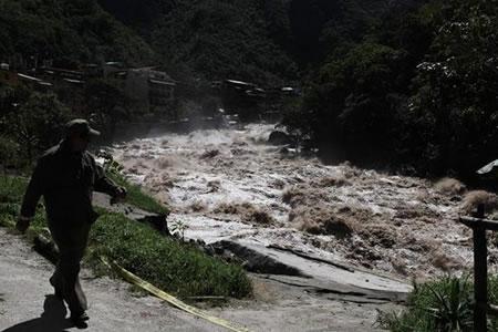 Un camino inca de Machu Picchu fue afectado por un deslizamiento de tierra