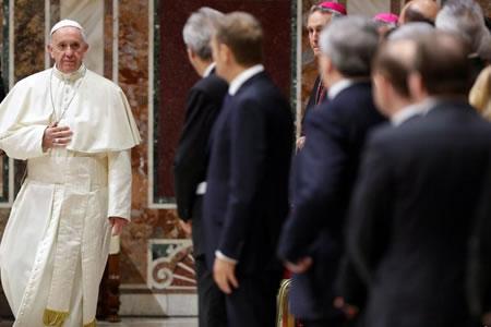 Inédito encuentro del Papa con líderes de la UE