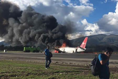 Impactantes videos muestran el horror vivido tras el accidente del Boeing-737 de Peruvian Airlines