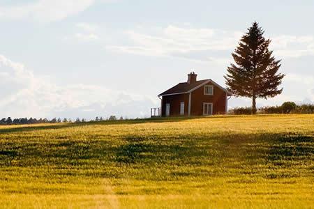 Un canadiense encuentra una casa 'estacionada' en medio de su campo