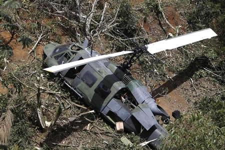 Helicóptero del Ejército se accidenta en el noroeste de Colombia sin heridos