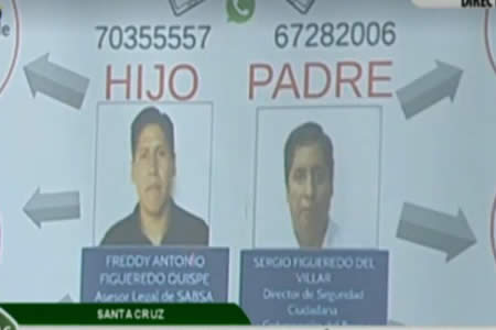 Presentan a padre e hijo que suplantaban identidad de Ministro de Justicia