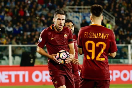 Roma golea 4-1 al Pescara y refuerza su segunda posición