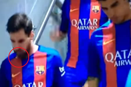¿Realmente Messi escupe un diente durante el partido contra el Real Madrid?