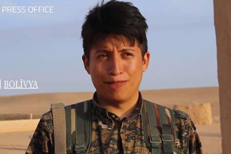 Joven boliviano se unió a los kurdos en el combate contra el ISIS en Siria