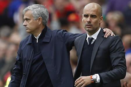 """Guardiola: """"Mourinho y yo somos vecinos y si nos vemos nos decimos 'hola'"""""""