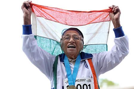 Una mujer india de 101 años vence en los 100 metros lisos