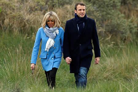 La profesora de secundaria de Macron podría convertirse en primera dama de Francia