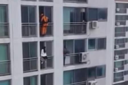 Rescate al límite: un bombero impide un intento de suicidio