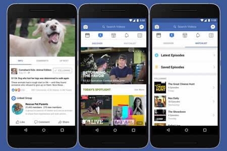Facebook lanza Watch, una sección de vídeos con series y contenido original