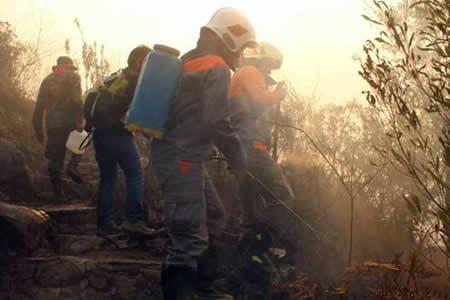 Muere una estudiante policial durante operativo contra incendio en Tarija