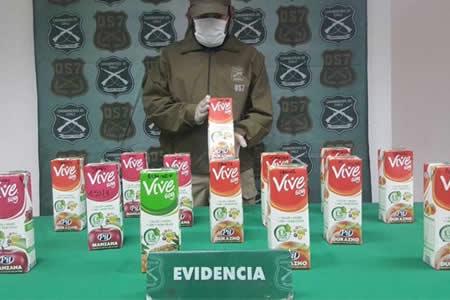 Bolivianos caen en Chile con droga camuflada como jugo