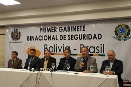 Bolivia y Brasil definen directrices para luchar contra delitos transnacionales en encuentro de seguridad