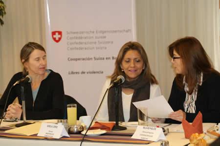 Gobierno y Cooperación Suiza lanzan campaña 'Por una vida sin violencia' hacia la mujer