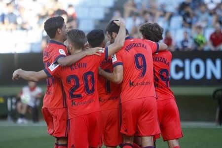 La Real Sociedad remonta al Celta de Vigo en once minutos
