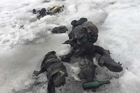 Glaciar suizo expulsa cuerpos congelados de pareja desaparecida hace 75 años