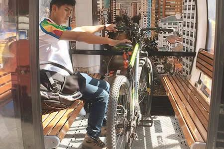 Usuarios podrán llevar bicicletas en el teleférico de manera gratuita los domingos