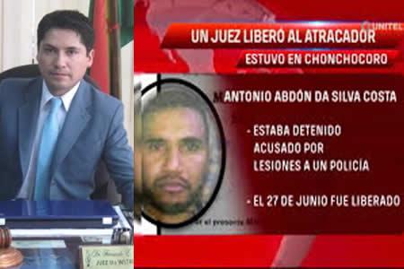 Consejo suspende a juez que liberó al brasileño del atraco a Eurochronos