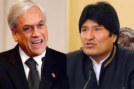 Piñera se enfrasca en una polémica con Evo Morales