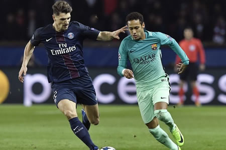 Meunier, del PSG, bromea con el mensaje de Piqué sobre Neymar