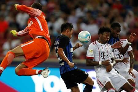 El Bayern cae ante el Inter (0-2) y James jugó 45 minutos