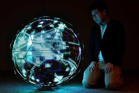 Crean en Japón el primer dron capaz de reproducir imágenes esféricas en vuelo