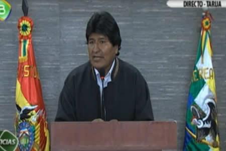Morales dice que levanta sospecha coincidencia de la derecha boliviana con políticos chilenos