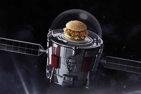La cadena KFC lanzará una hamburguesa a la estratósfera