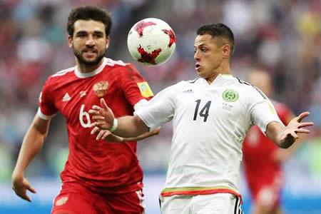 México, con remontada, apea a Rusia y pasa a semifinales