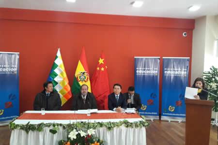 Bolivia y China firman acuerdo para promover intercambio científico y tecnológico
