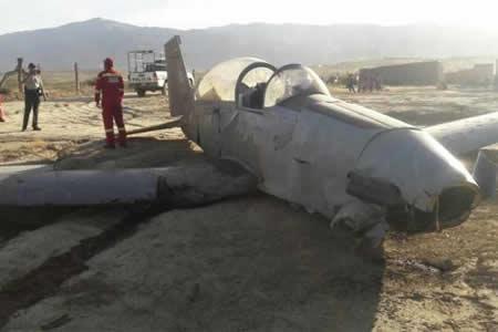 Una avioneta militar se precipita a tierra en Tarija