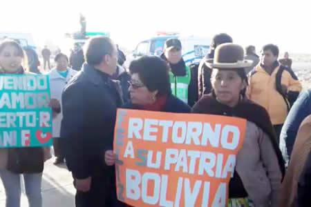 Los 9 detenidos están libres y pisaron suelo boliviano en emotivo encuentro