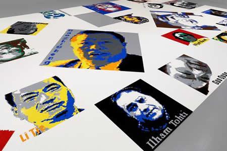Ai Weiwei trae a Washington sus retratos de Lego de Snowden y Chelsea Manning