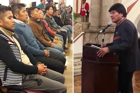"""Morales: """"Quiero decirles con frente altiva: no tenemos miedo a Chile"""""""